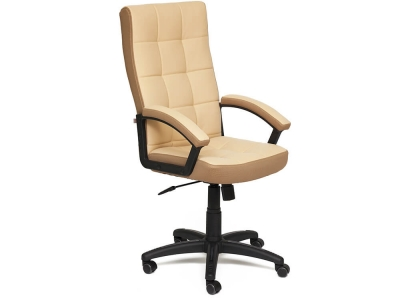 Кресло Trendy кож.зам + ткань Бежевый + Бронзовый (36-34/21)