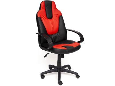 Кресло Neo-1 кож.зам Чёрный + Красный (36-6/36-161)