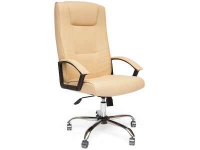 Кресло Maxima хром + кож.зам Бежевый (36-34)