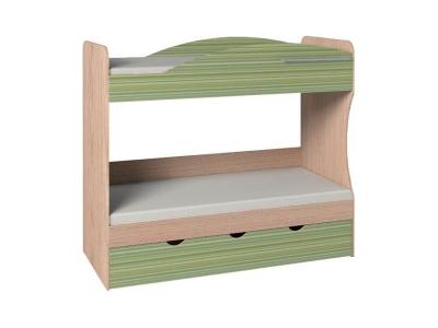 Кровать двухъярусная 6 Калейдоскоп Зеленая радуга