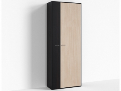 Шкаф широкий правый Крокус ПР-ШС-1-3 800х334х2100 Дуб девонширский - Дуб Миланский