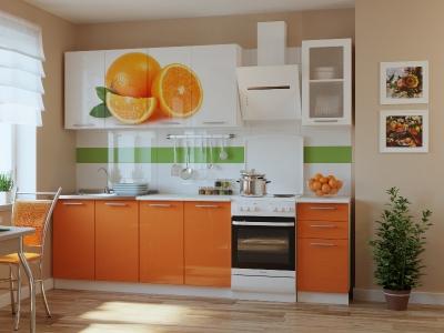 Кухонный гарнитур Риал K-87 Оранжевый 2000