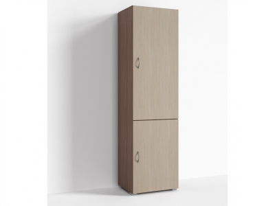 Шкаф 2 двери Арония Г-ШС-1-2 500-400-1820 Ясень шимо темн-ясень шимо светлый