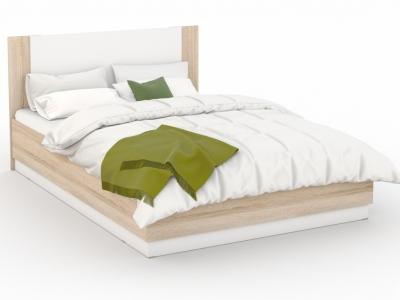 Кровать Аврора 160х200 с подъемным механизмом Сонома/белый