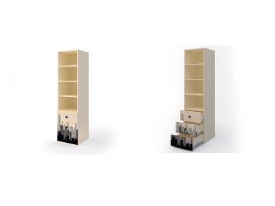 Шкаф открытый с ящиками ДМ-ШС-3-5 Герой 458-504-1806