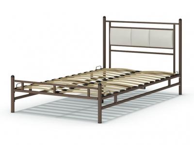 Кровать 120 Мелина металлическая Венге - эко-кожа