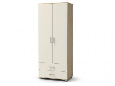 Шкаф Максим 2-2 с ящиками Дуб сонома - Белый