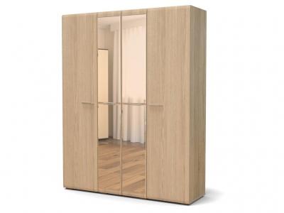 Шкаф Офелия 4-х с зеркалом Дуб сонома - МДФ Дуб модерн