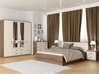 Спальня Лаура с кроватью 160 Винтаж - МДФ Лён жемчужный