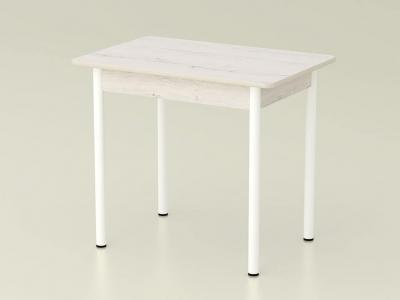 Стол обеденный закругленный Дуб эльза - ноги белые