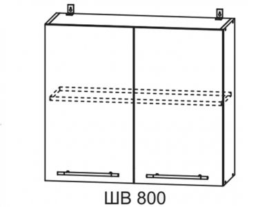 Шкаф верхний 800мм П 700х800мм МДФ сандал Империя