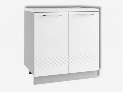 Шкаф нижний 800мм стол рабочий С 850х800мм МДФ белый Капля