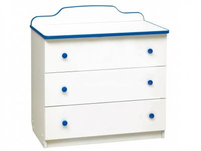 Комод с 3-мя ящиками Радуга синий