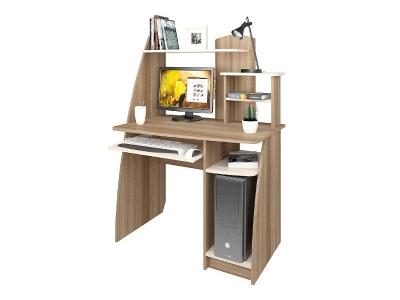 Компьютерный стол Интел 17 Ясень Шимо темный-светлый