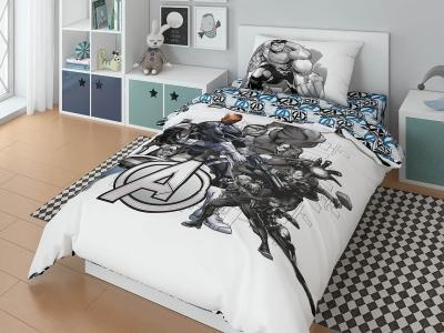 Комплект постельного белья Marvel 1,5СП Avengers black (арт. 7247642)