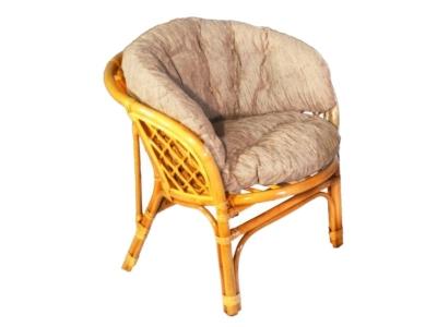 Кресло Багама мед со светлой полной подушкой