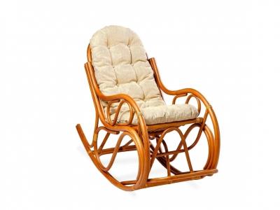 Кресло-качалка 05/04 с толстой подушкой миндаль матовый