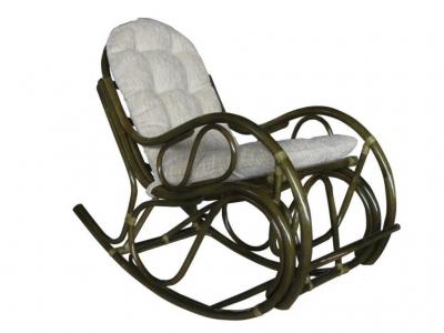 Кресло-качалка 05/04 с толстой подушкой олива