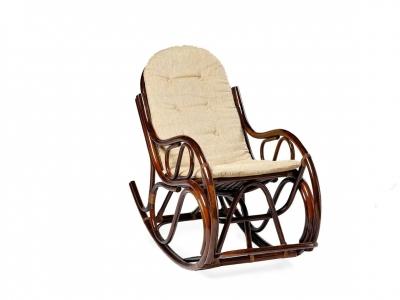 Кресло-качалка 05/04 с тонкой подушкой молочный шоколад