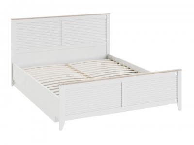 Кровать Ривьера с ПМ СМ 241.01.002 Дуб Бонифацио, Белый