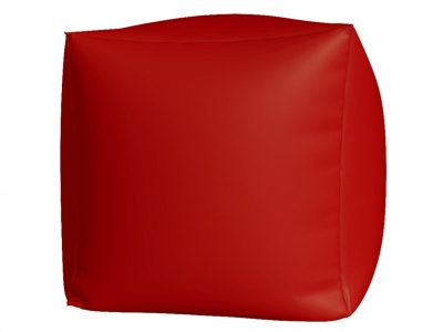 Пуфик Куб макси нейлон красный