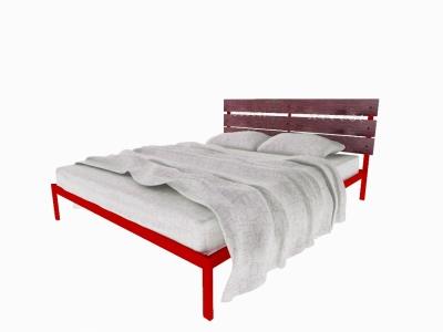 Кровать Луиза красная