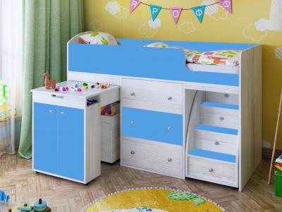 Кровать-чердак Малыш Винтерберг-голубой