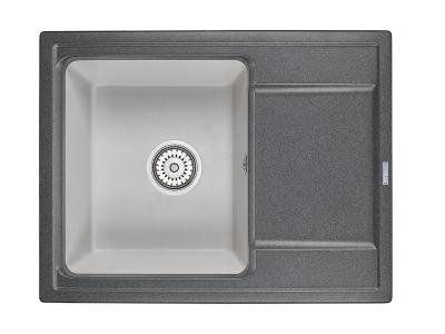 Кухонная мойка Hibrid Hi-65 Графит-Базальт