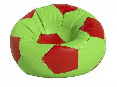 Кресло-мешок Мяч средний нейлон салатовый-красный