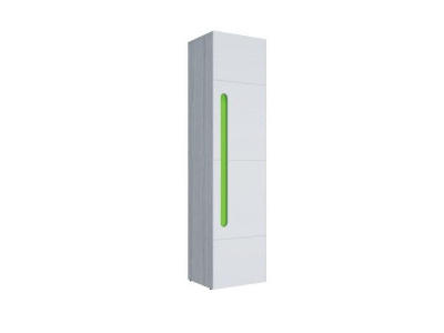 Шкаф 1-створчатый Палермо-3 Юниор зеленая вставка 536х2078х381 мм