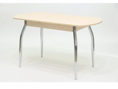Стол раздвижной с вкладышем ПГ 17 дуб беленый