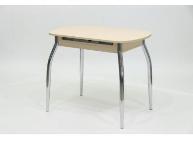 Стол раздвижной с вкладышем ПГ 23 дуб беленый