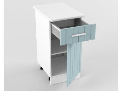 Нижний шкаф Н 400 1 ящик 1 дверь 850х400х600 Прованс Роялвуд голубой