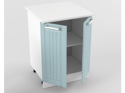 Нижний шкаф Н 600 2 двери 850х600х600 Прованс Роялвуд голубой