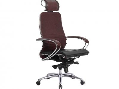 Компьютерное кресло Samurai K-2.04 темно-бордовый с ковриком СSm-25
