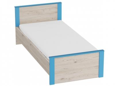 Кровать Скаут 960х2055х795 без основания Матовый индиго