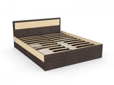 Кровать Дуэт 160 венге дуб с основанием