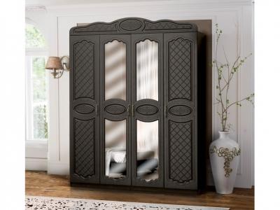 Шкаф 4-х дверный с 2-мя зеркалами Венеция 5