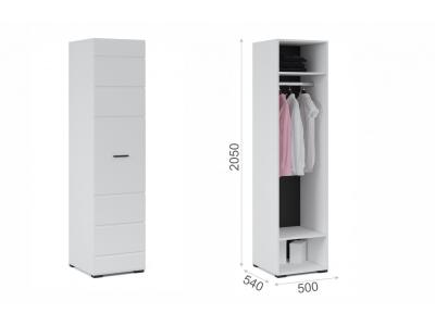 Шкаф 1-дверный Йорк Белый жемчуг