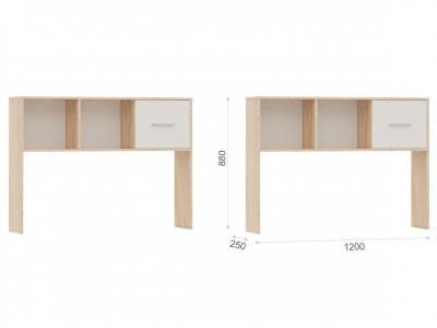 Полка-надставка Стелс 120 Дуб сонома/белый