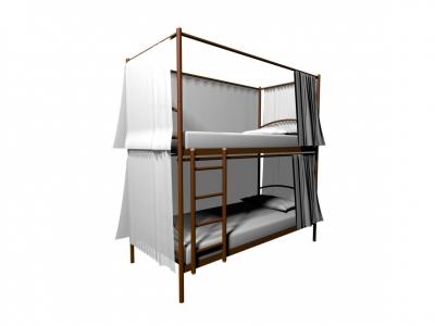 Конструкция для штор к Хостел Duo 3х стронняя